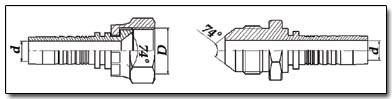 JIC фитинг с обратным конусом 74 градуса